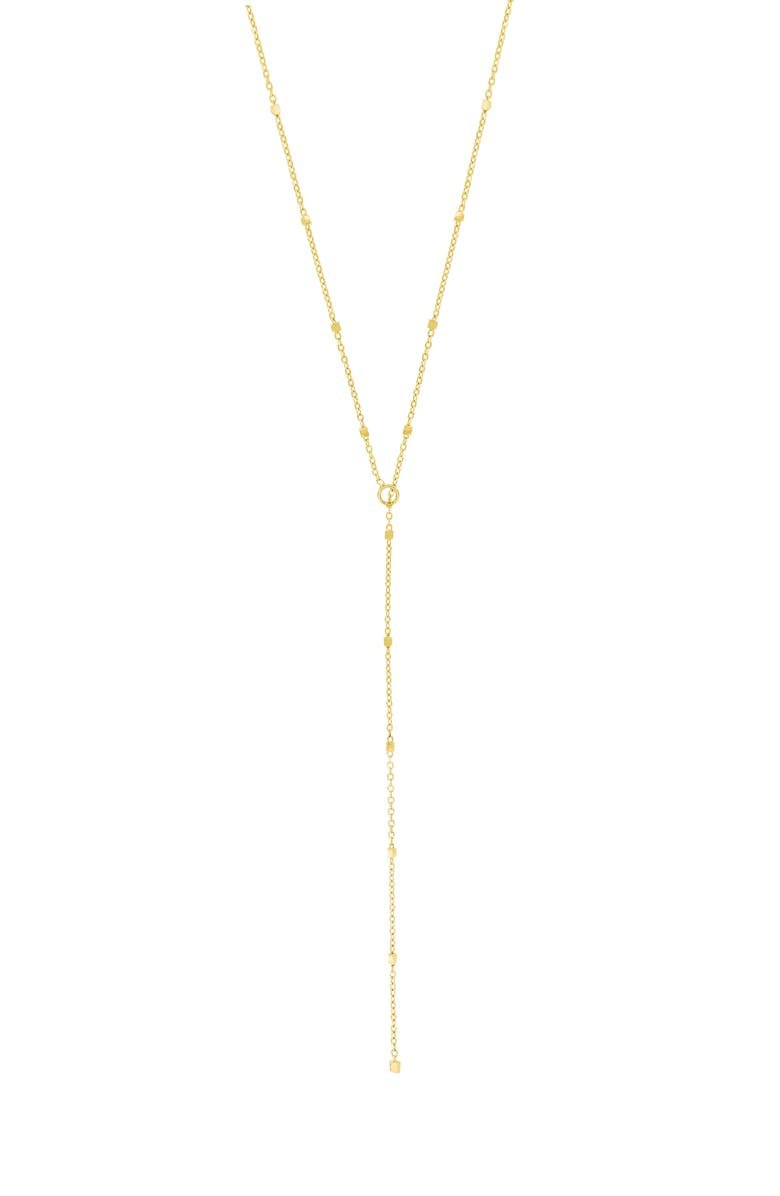 BONY LEVY Lariat Necklace, Main, color, YELLOW GOLD
