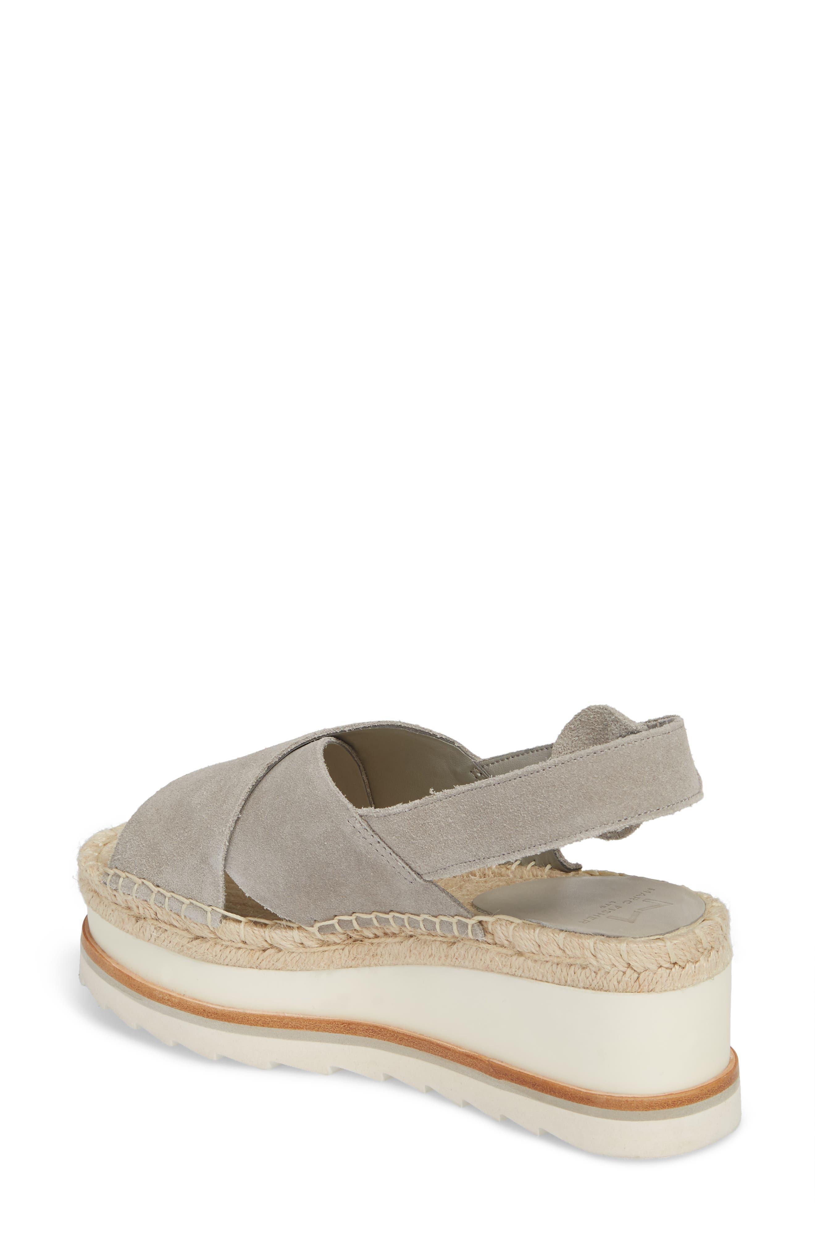 ,                             Glenna Platform Slingback Sandal,                             Alternate thumbnail 2, color,                             GREY SUEDE