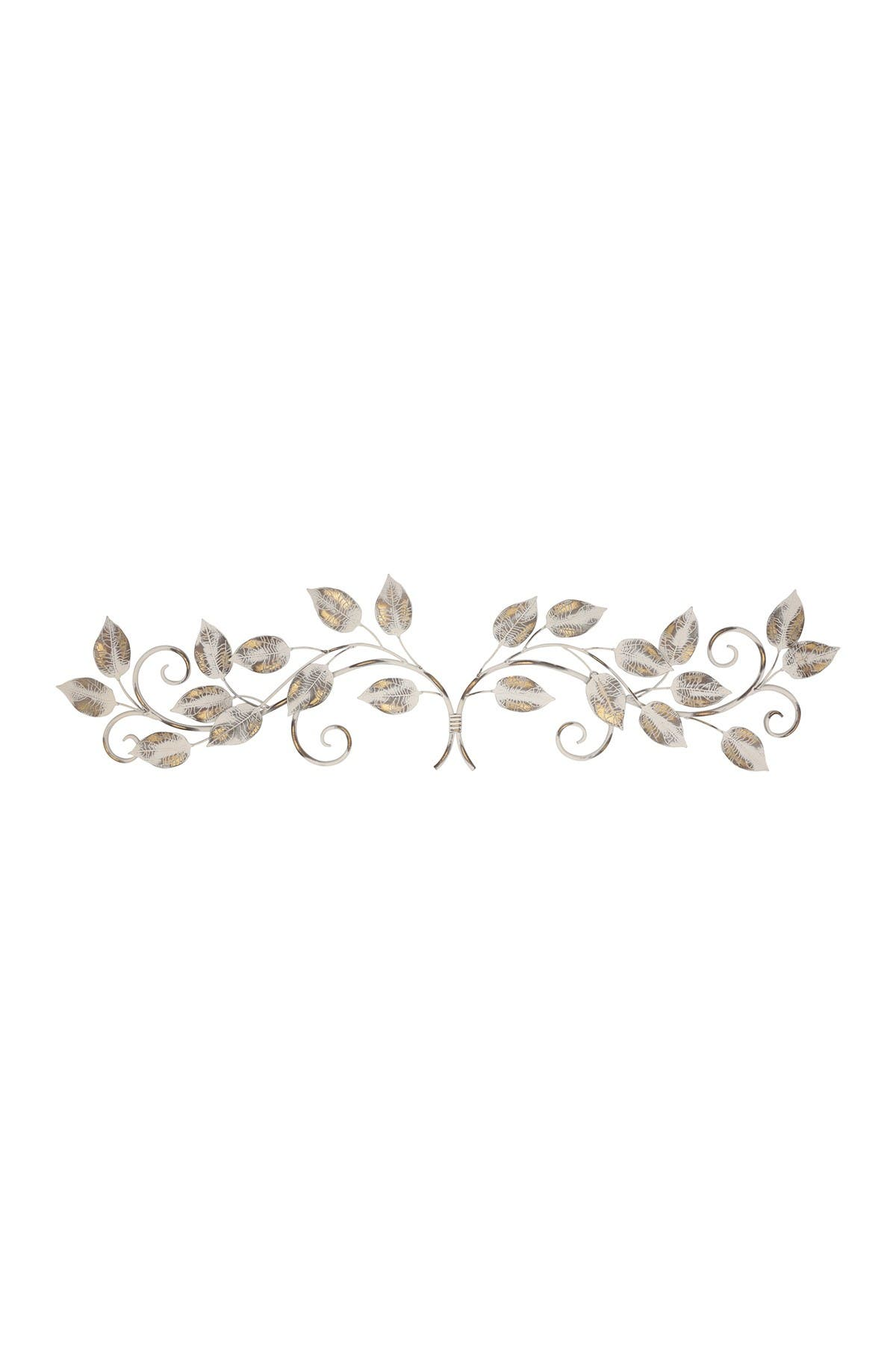 Image of Stratton Home White & Bronze Distressed Leaves Over the Door Wall Decor