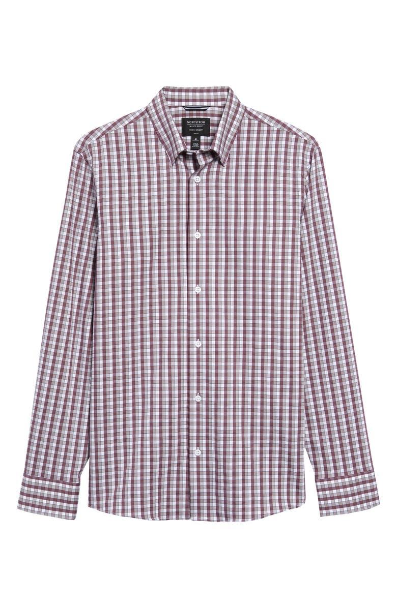 NORDSTROM MEN'S SHOP Perform Regular Fit Check Button-Up Shirt, Main, color, 510