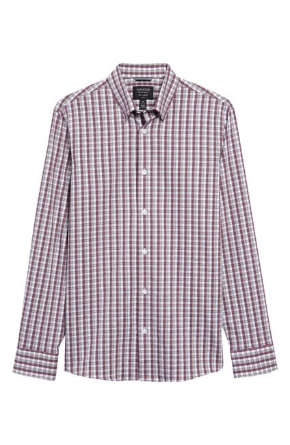 Image of NORDSTROM MEN'S SHOP Perform Regular Fit Check Button-Up Shirt