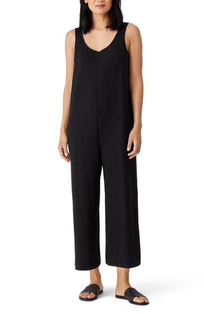 Eileen Fisher SLEEVELESS CROP WIDE LEG JUMPSUIT