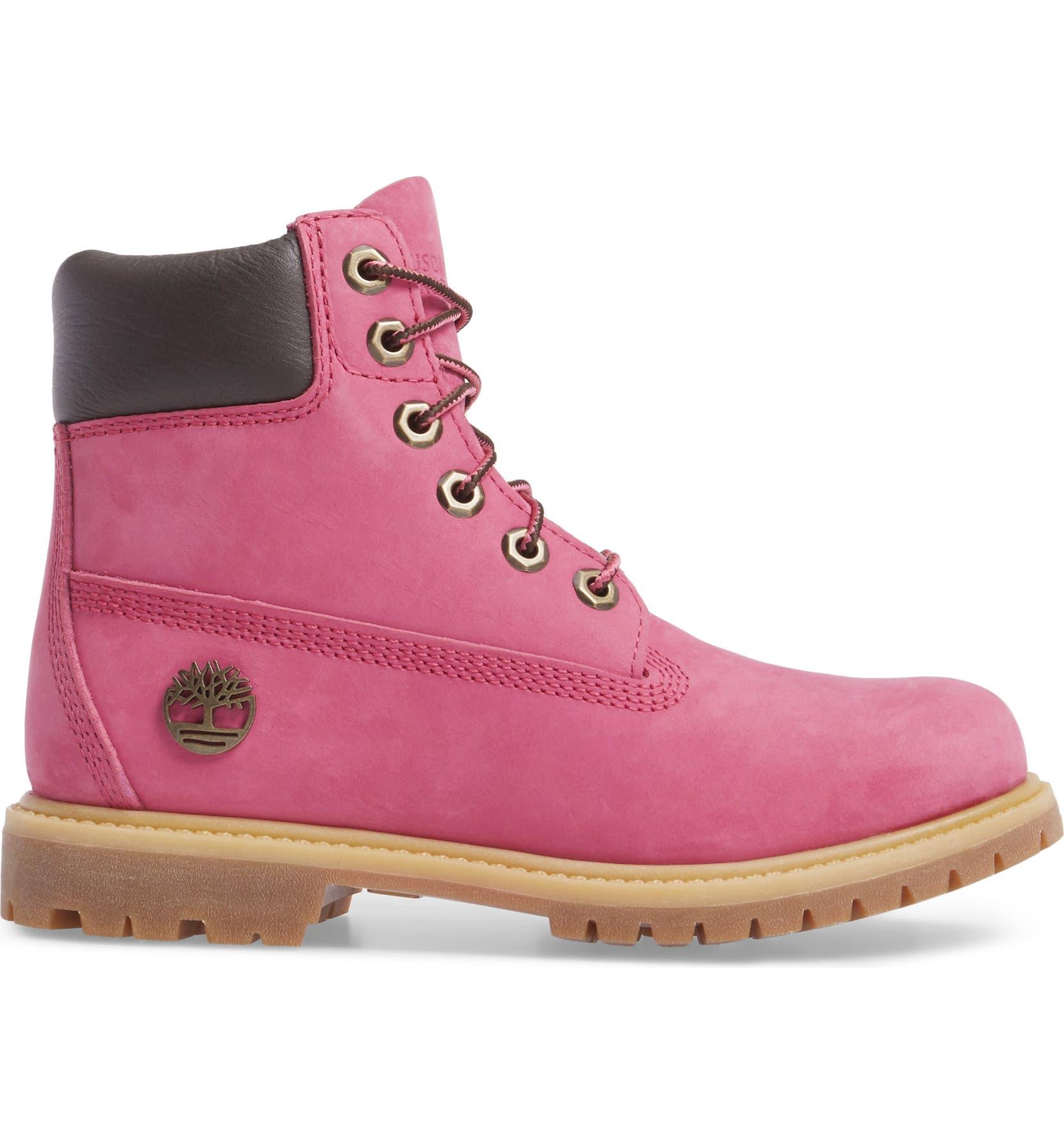 Timberland x Susan G. Komen Foundation Hot Pink 6 Inch Boot