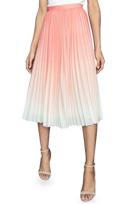 Image of REISS Mila Ombre Pleated Midi Skirt