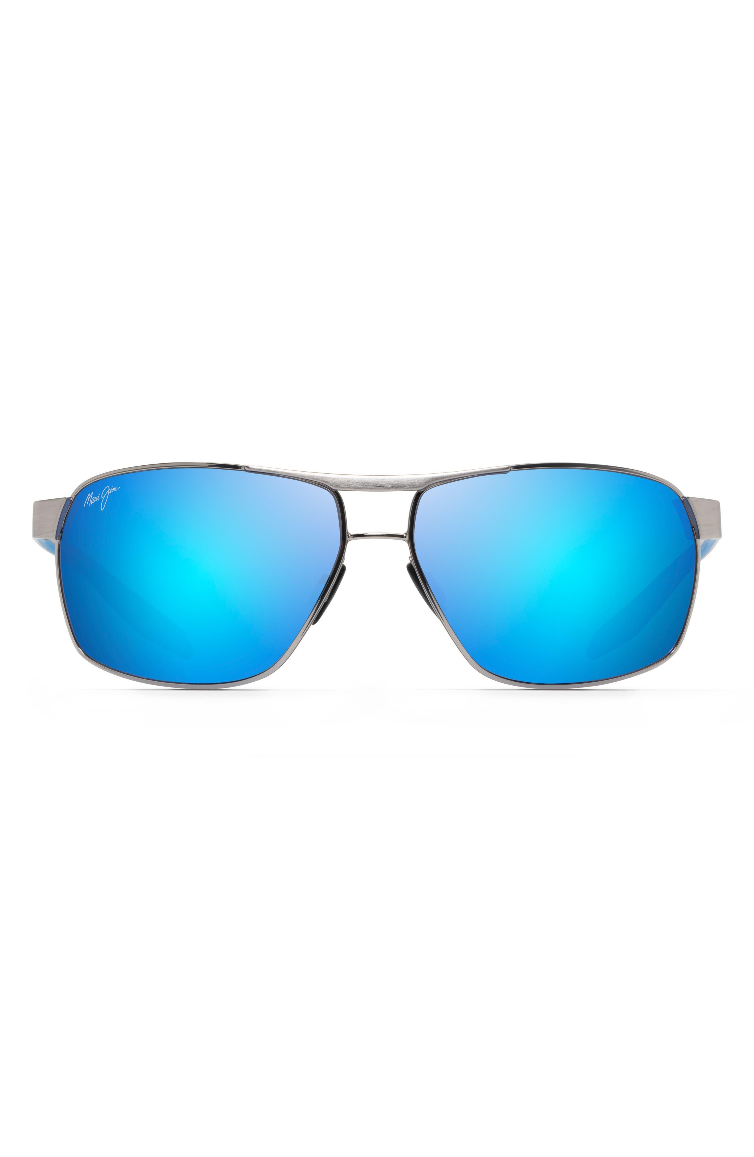 The Bird Polarizedplus2 63mm Rectangle Sunglasses
