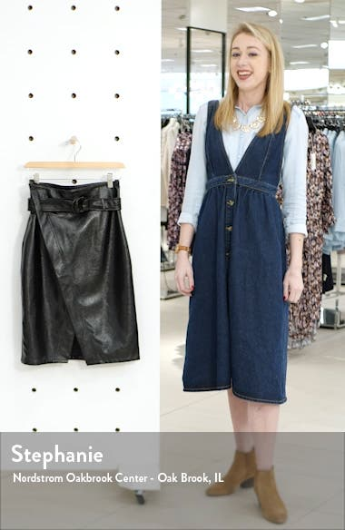 Belted Faux Patent Skirt, sales video thumbnail