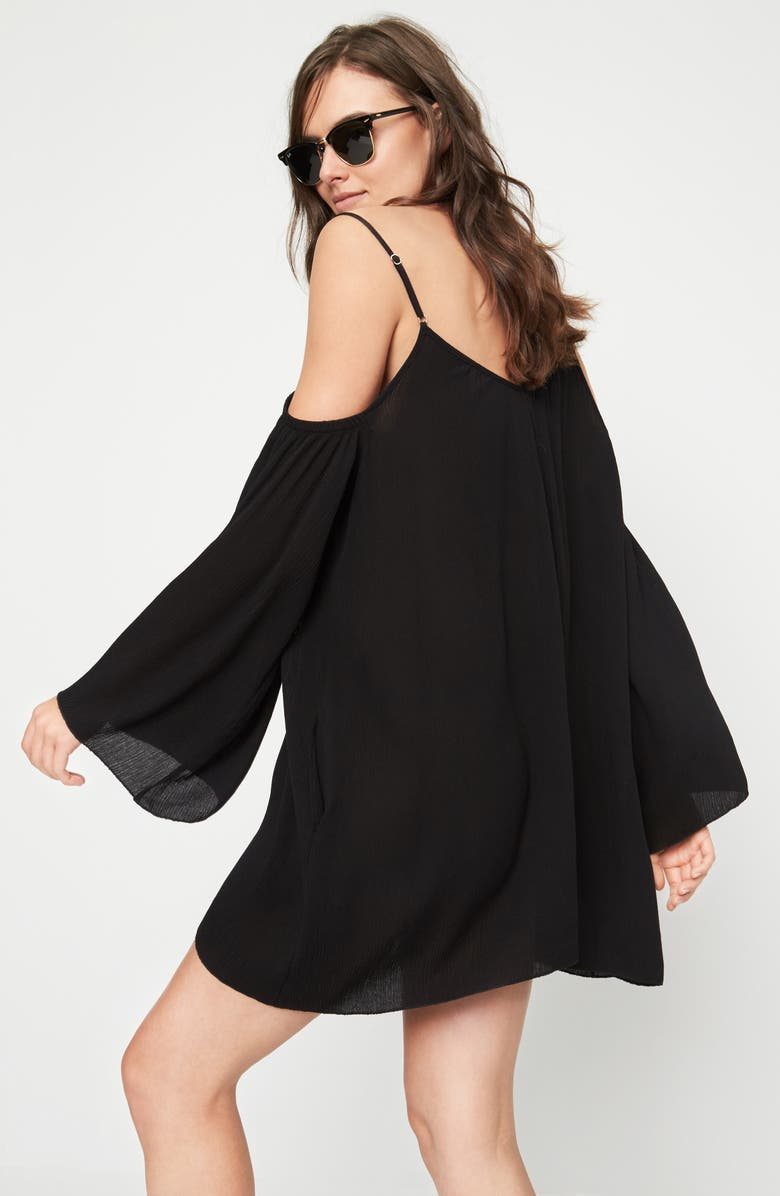 ELAN Cold Shoulder Cover-Up Tunic, Main, color, 001
