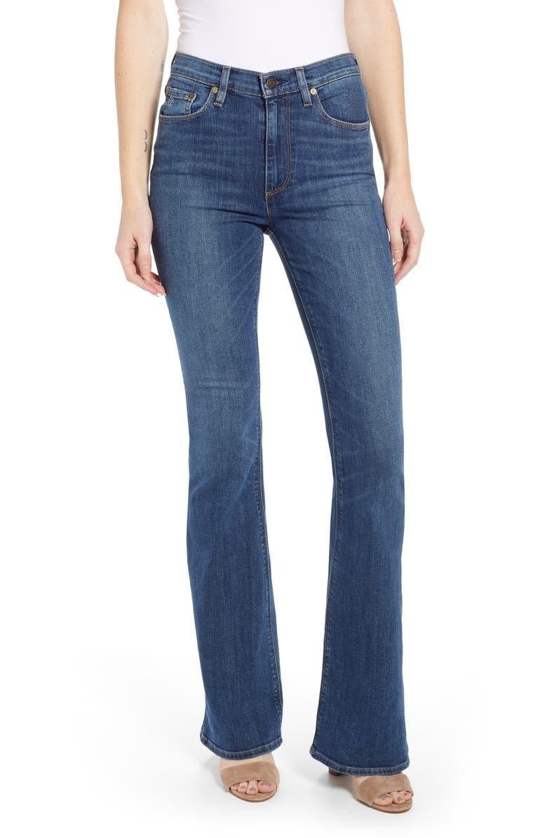 SOCIALITE Elle High Waist Flare Jeans, Main, color, SANTA ANITA