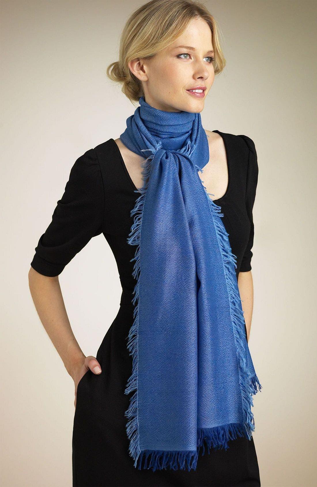 ,                             'Eyelash' Colorblock Cashmere Wrap,                             Main thumbnail 120, color,                             XEX