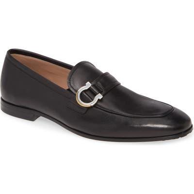 Salvatore Ferragamo Tweed Bit Loafer, Black