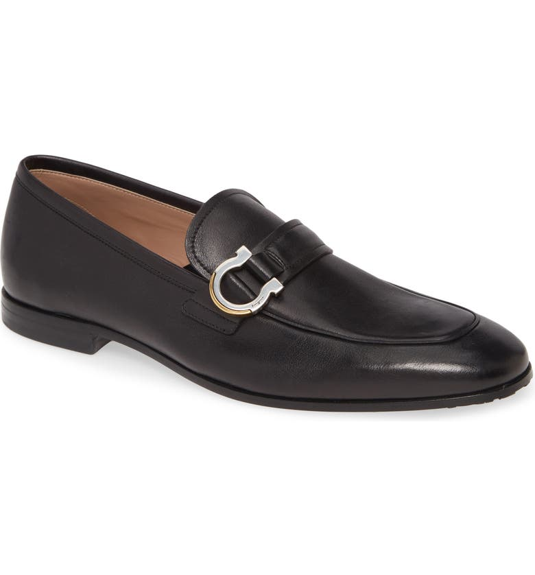 SALVATORE FERRAGAMO Tweed Bit Loafer, Main, color, BLACK