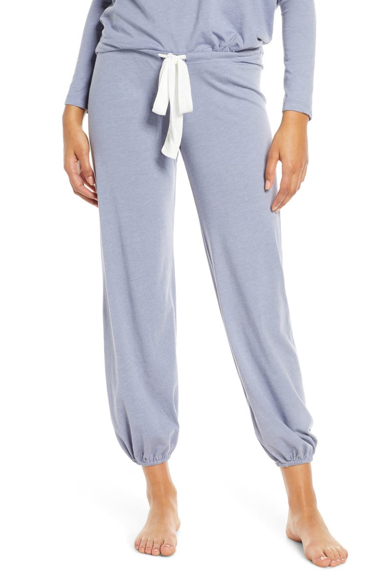 EBERJEY Crop Knit Lounge Pants, Main, color, OXFORD BLUE