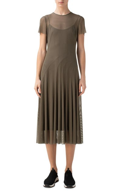 Akris Punto MESH SHORT SLEEVE DRESS