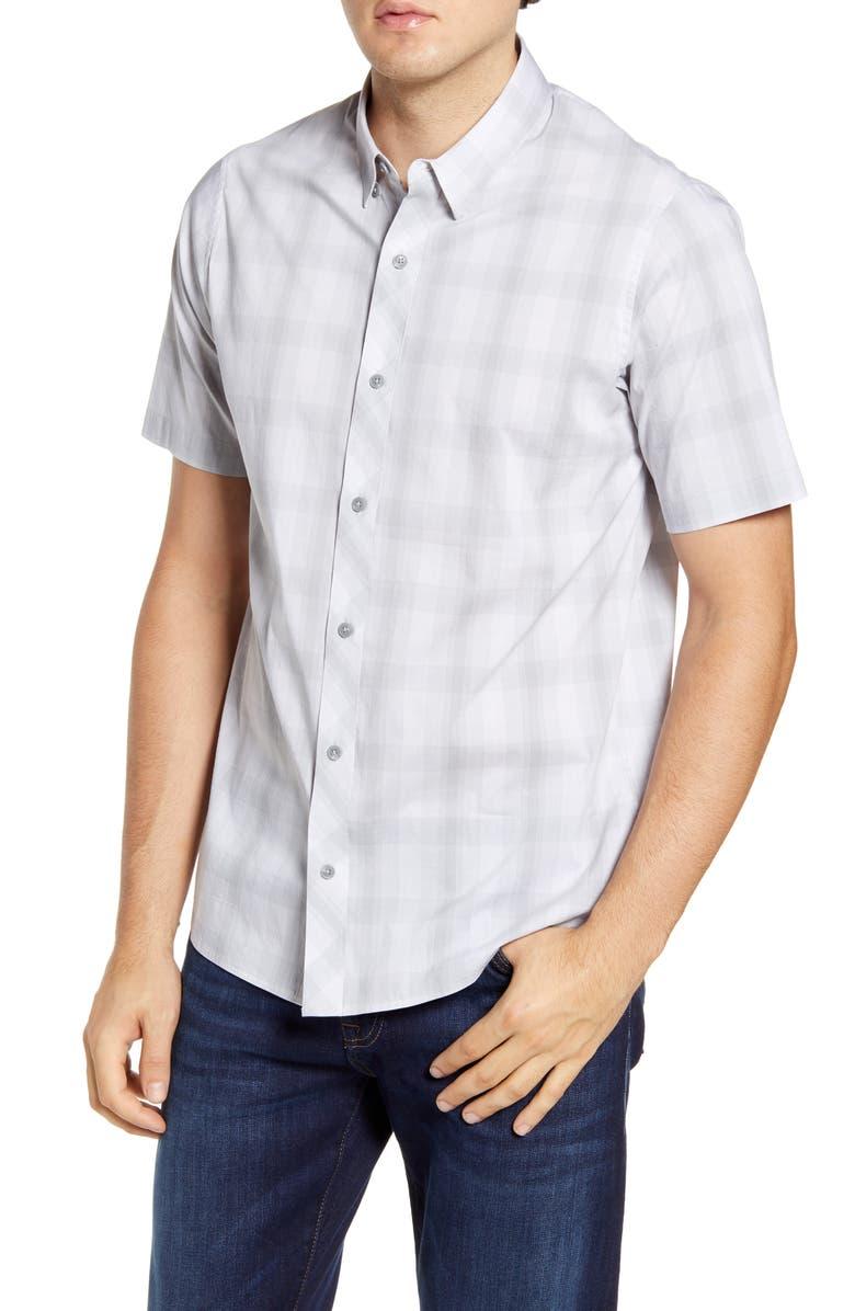 TRAVISMATHEW Cash or Check Regular Fit Shirt, Main, color, SHARKSKIN
