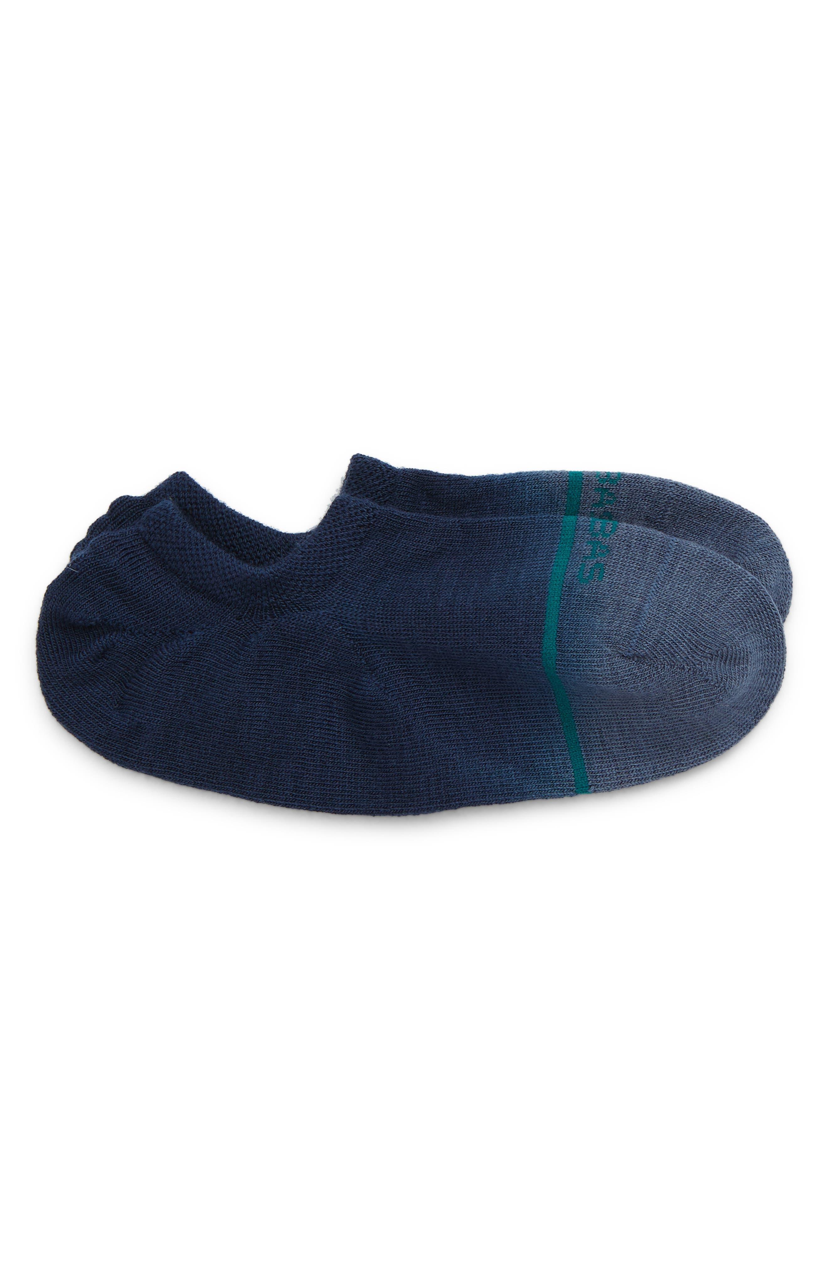 Dip Dye Merino Wool Blend No-Show Socks
