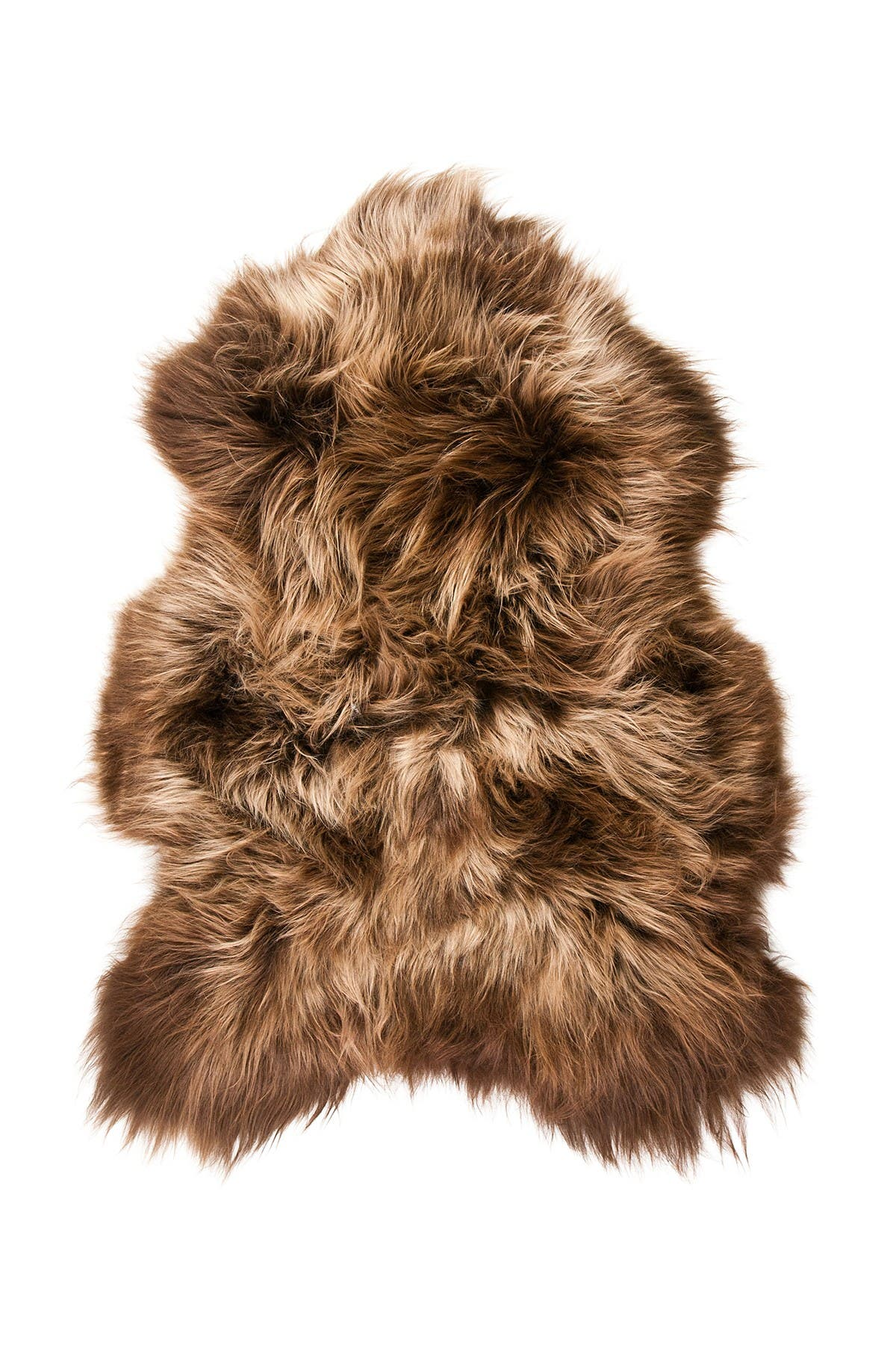 Image of Natural Icelandic Genuine Genuine Sheepskin Shearling Shearling Long-Haired Rug - 2ft x 3ft - Rusty Brisa