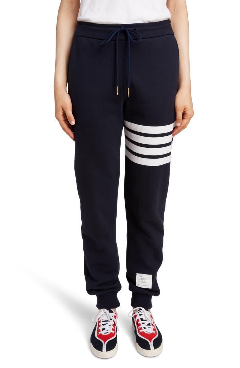 THOM BROWNE 4-Bar Sweatpants, Main, color, NAVY