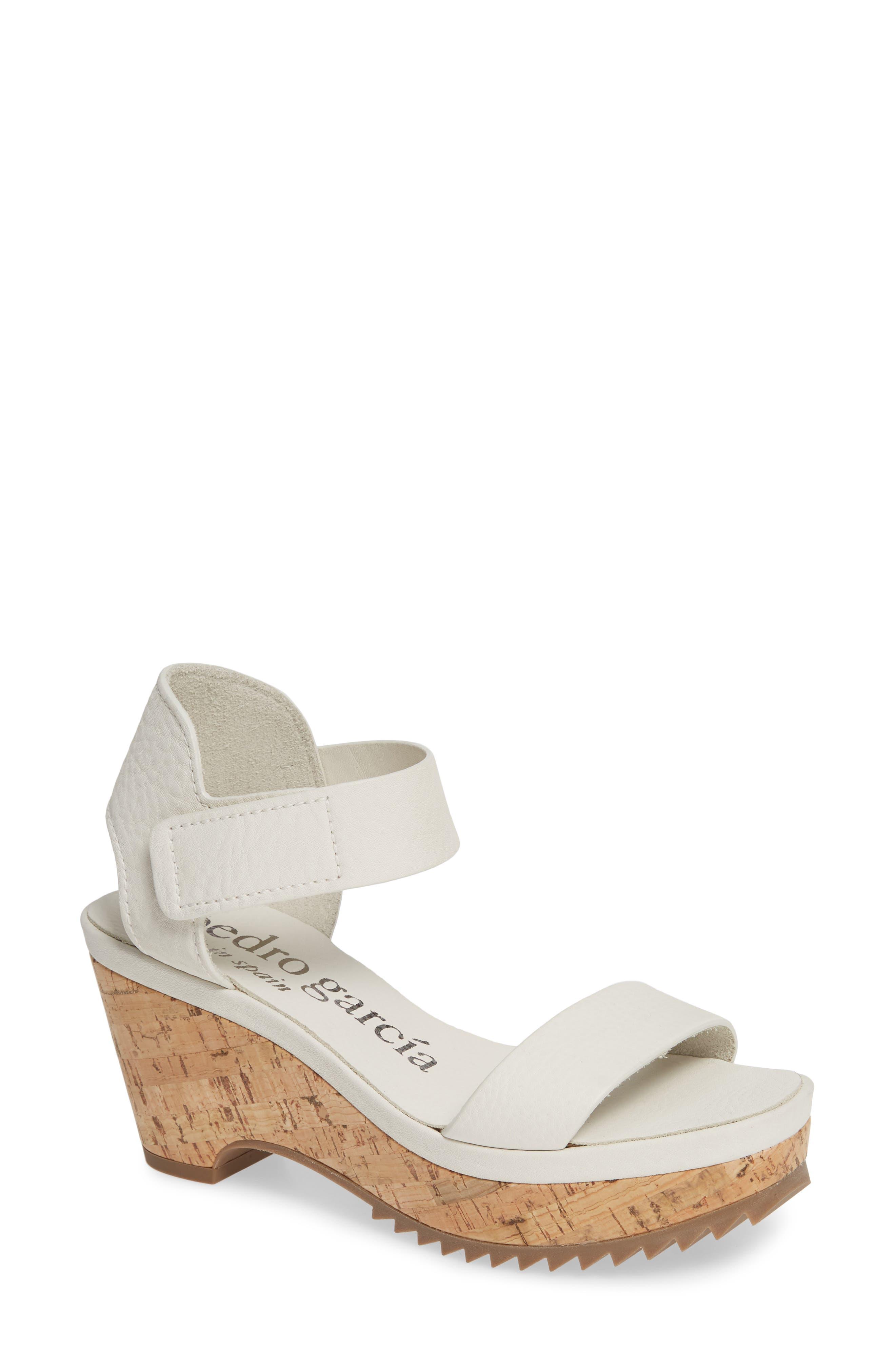 Pedro Garcia Franses Flatform Sandal, White