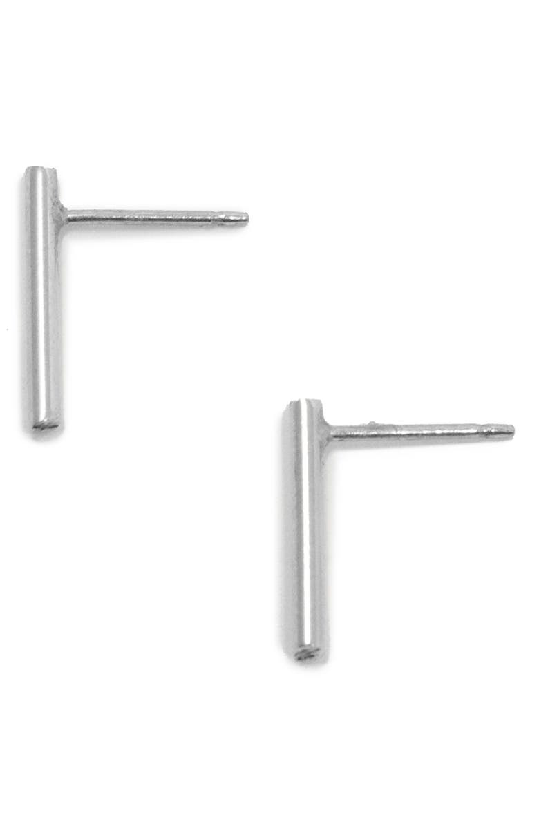 ABLE Stick Earrings, Main, color, SILVER