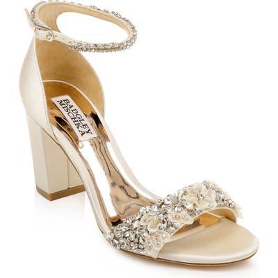 Badgley Mischka Finesse Ankle Strap Sandal- Ivory