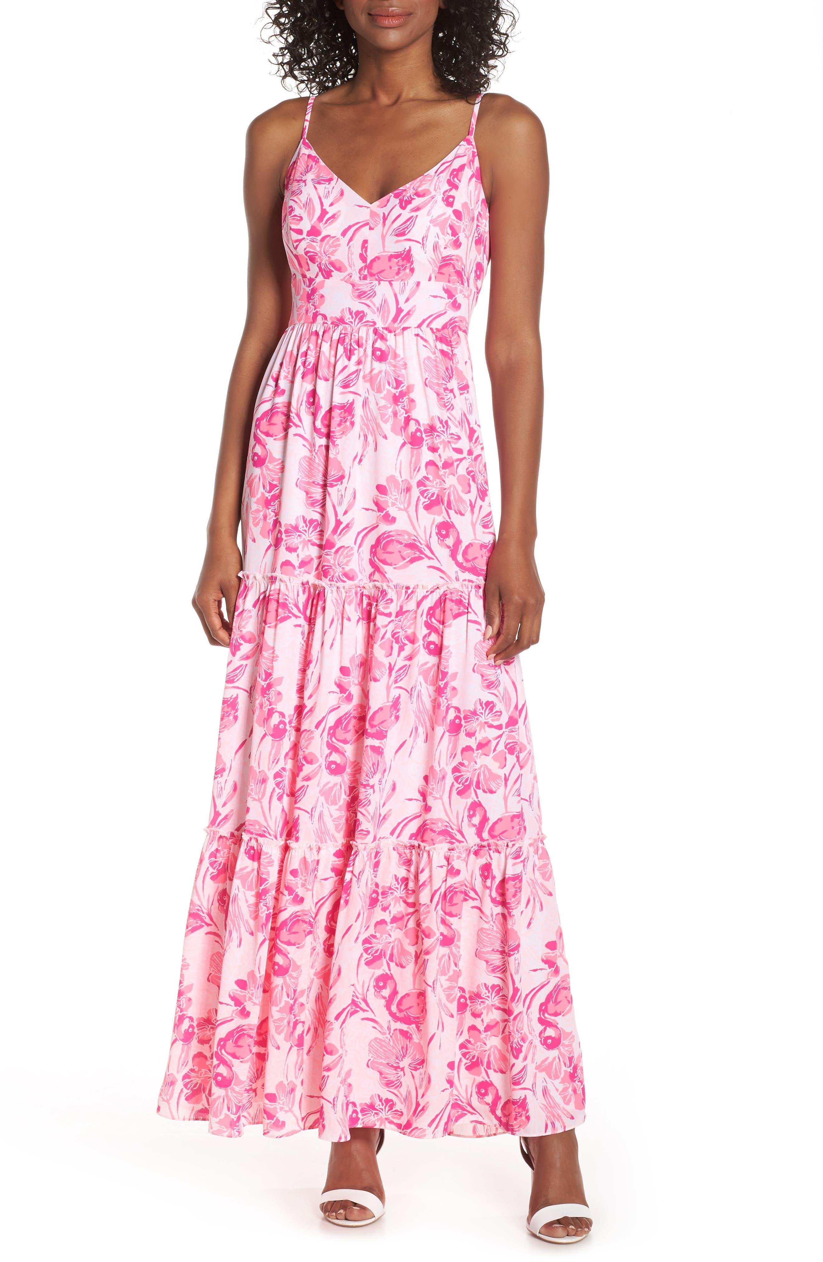 Lilly Pulitzer Melody Maxi Dress, Coral
