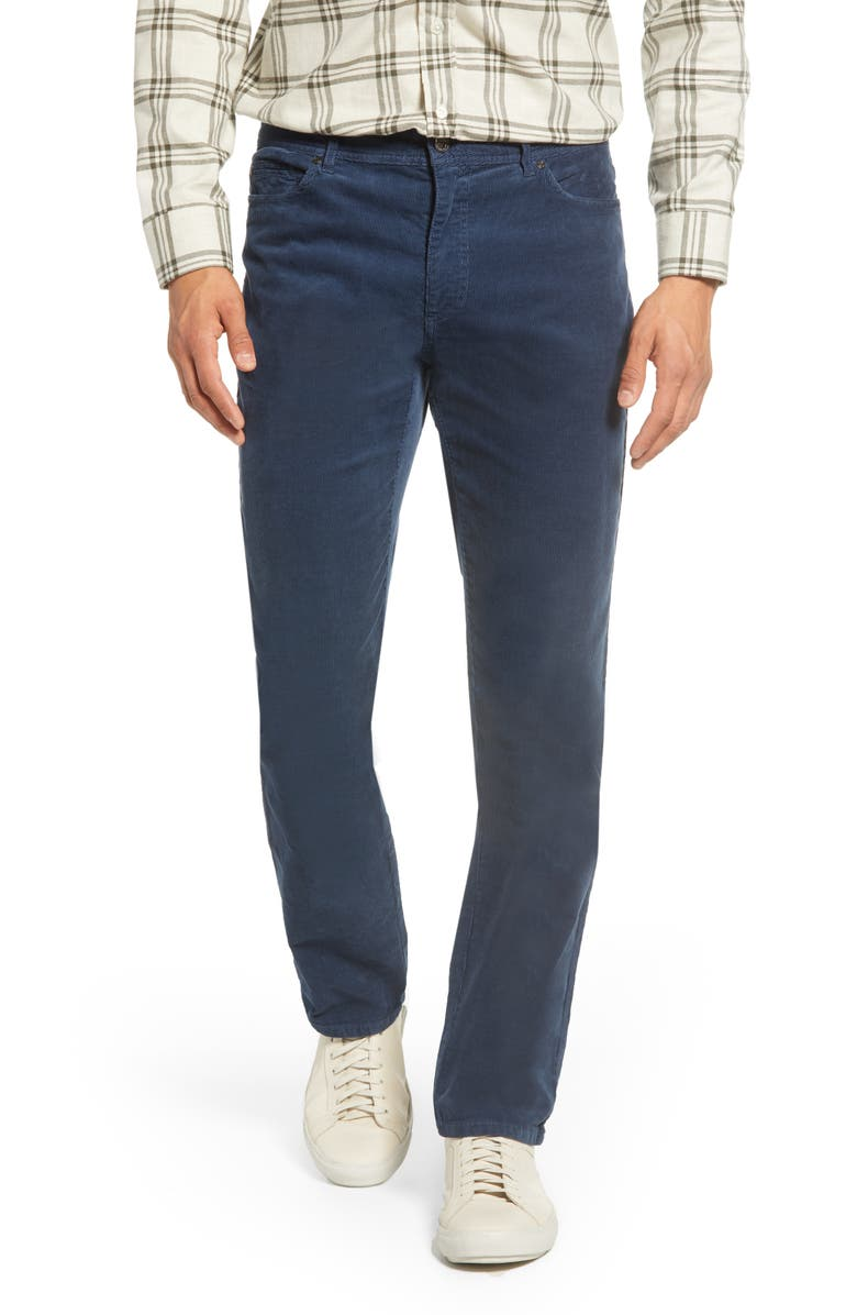 JOHNNIE-O Ramsey Straight Leg Corduroy Pants, Main, color, HIGH TIDE