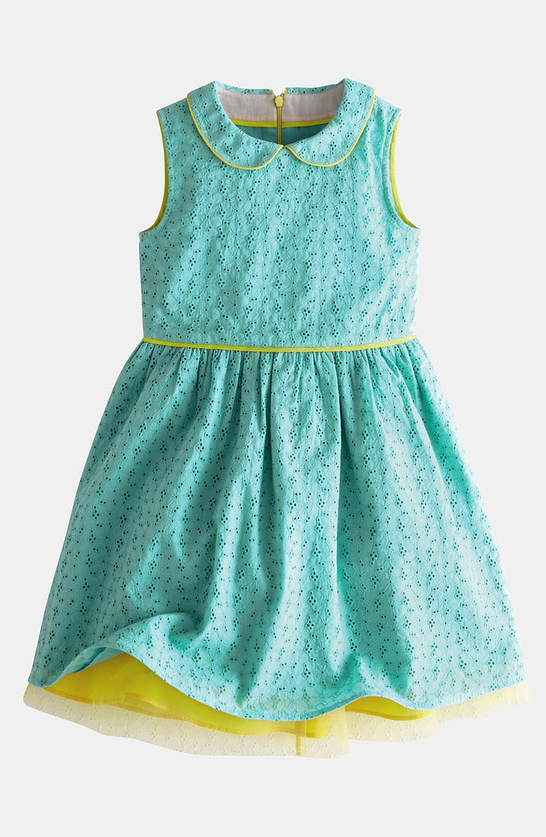 MINI BODEN Eyelet Dress, Main, color, 334