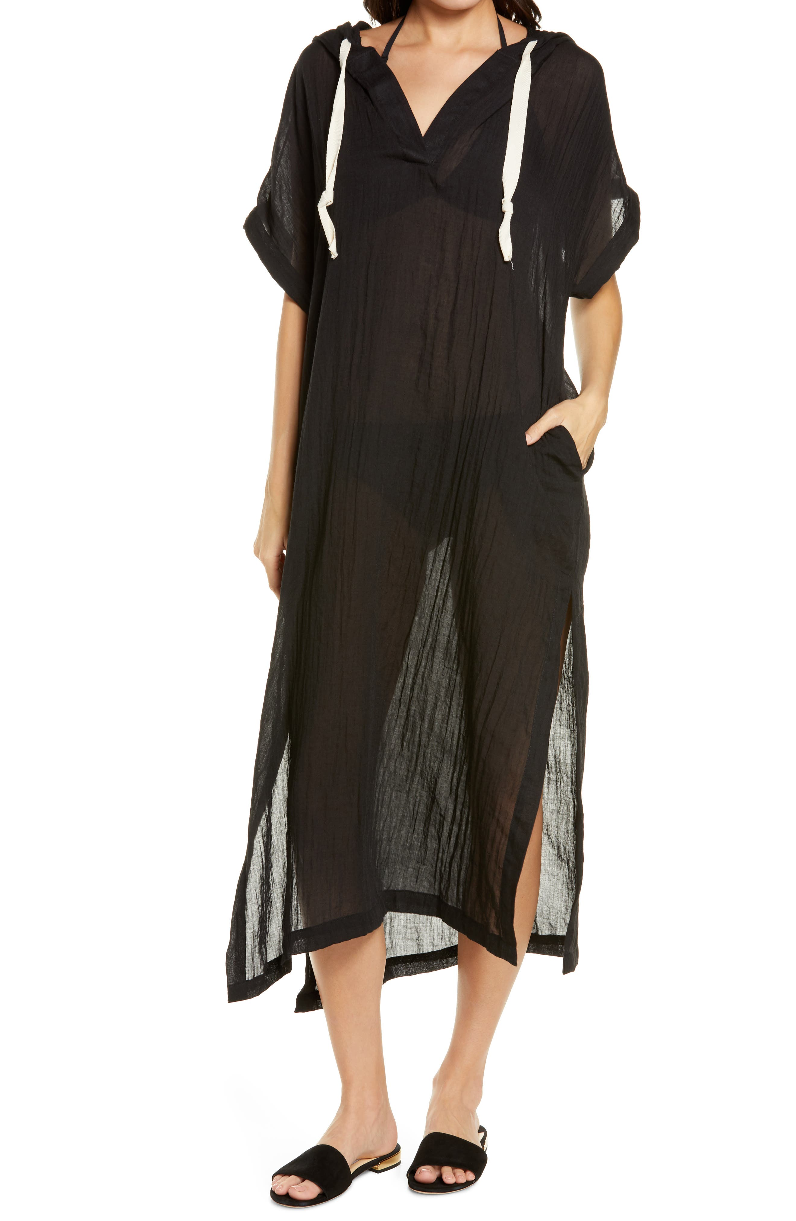 Hooded Cover-Up Caftan