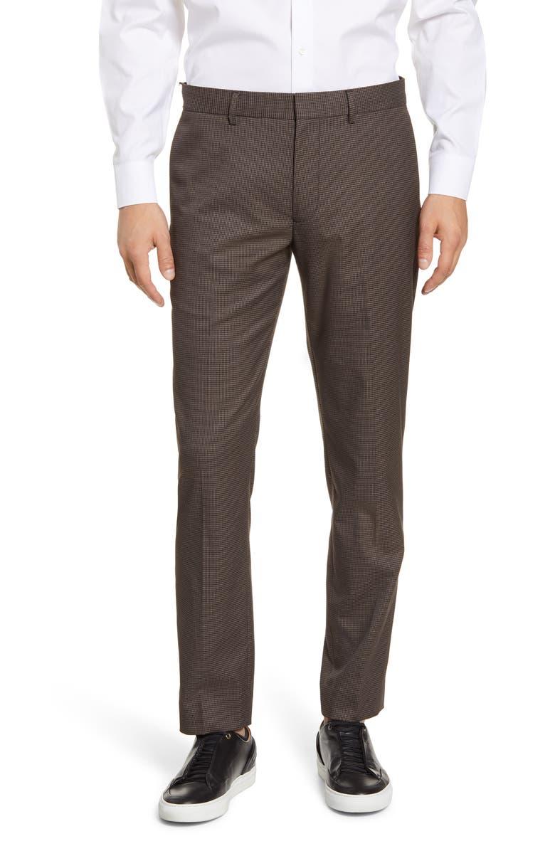 CLUB MONACO Sutton Slim Fit Houndstooth Check Pants, Main, color, 200