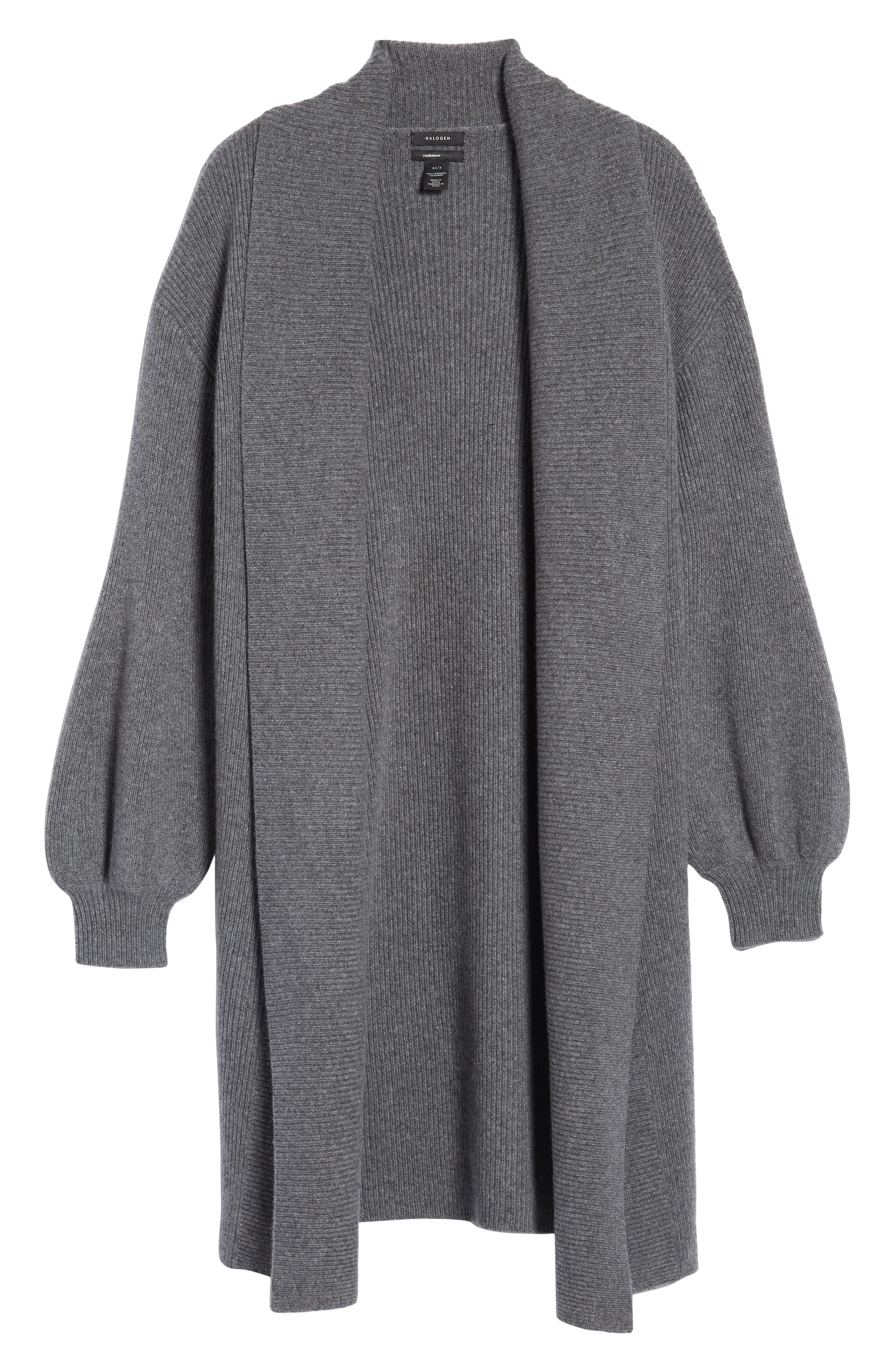 ,                             Blouson Sleeve Long Cashmere Cardigan,                             Alternate thumbnail 6, color,                             032