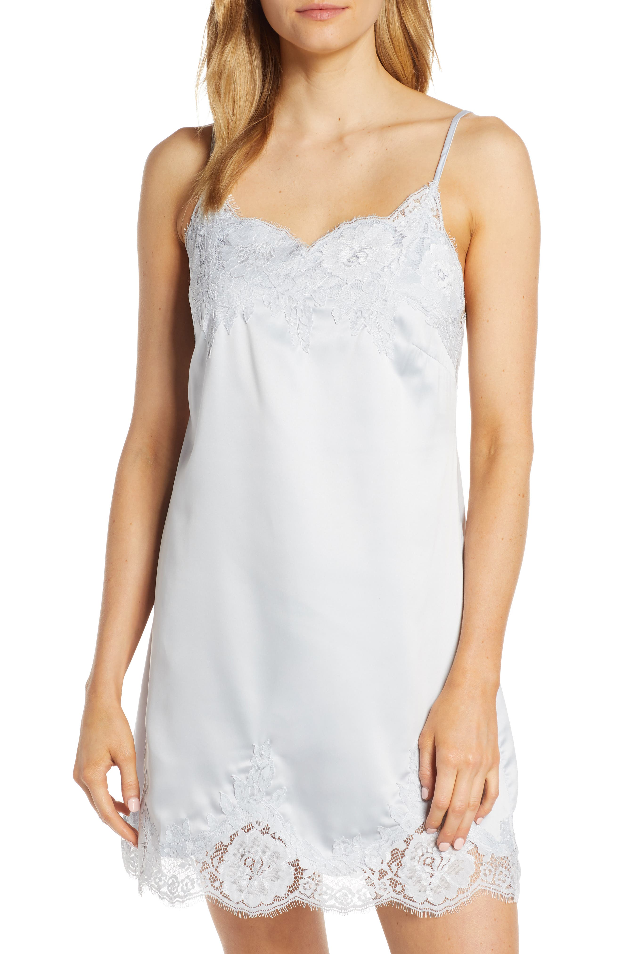 1920s Style Underwear, Lingerie, Nightgowns, Pajamas Womens Homebodii Olivia Lace Trim Chemise $47.96 AT vintagedancer.com