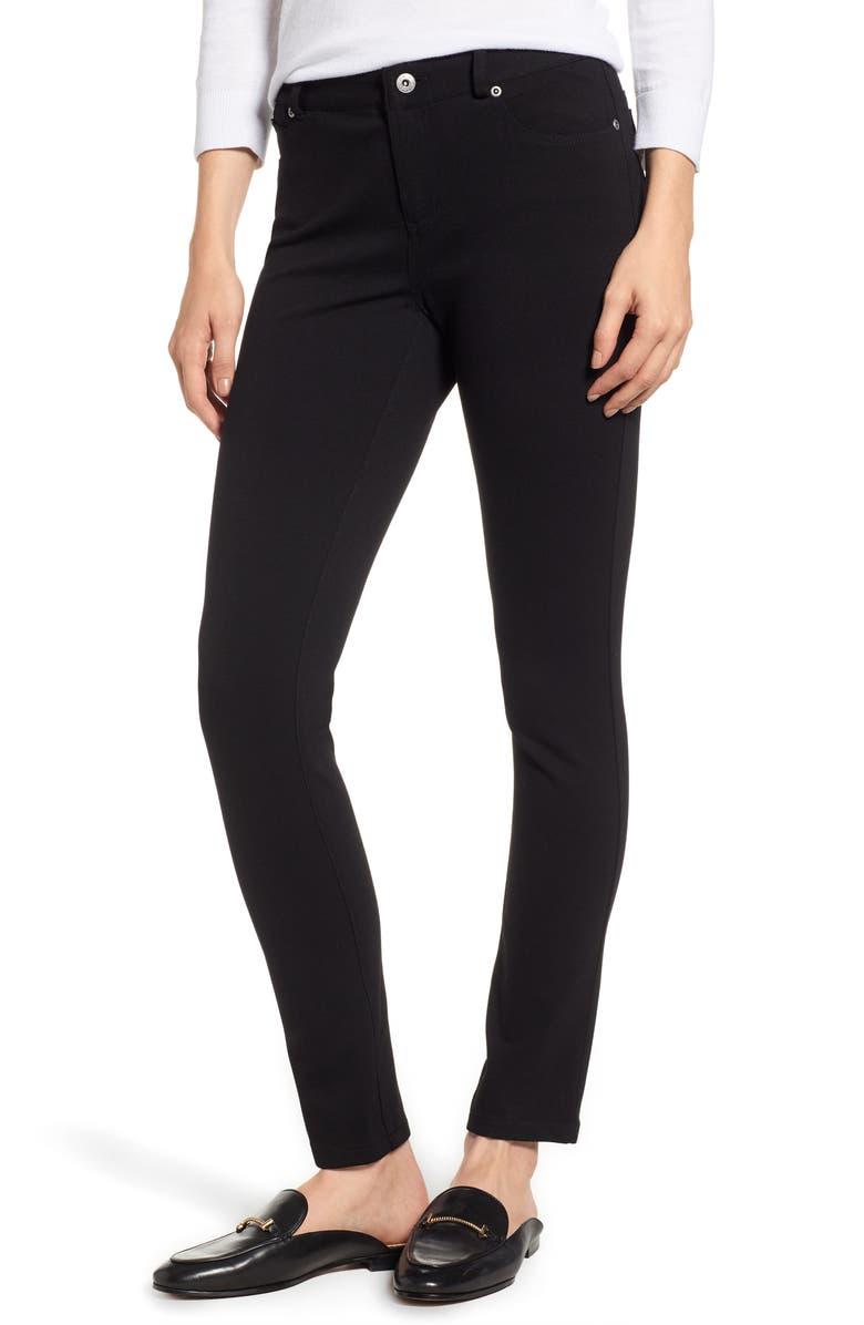 d9b2f41cd2ae3 Skinny Ponte Pants, Main, color, RICH BLACK
