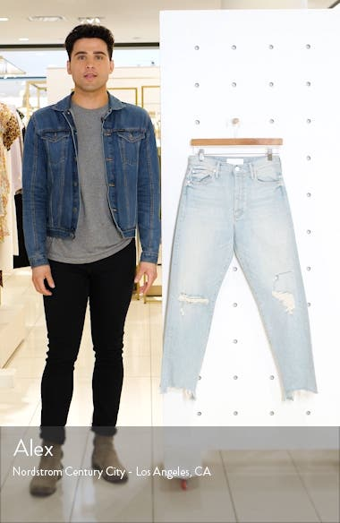 The Huffy Flood High Waist Ripped Straight Leg Jeans, sales video thumbnail