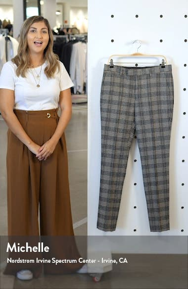 Juice Skinny Fit Plaid Herringbone Pants, sales video thumbnail