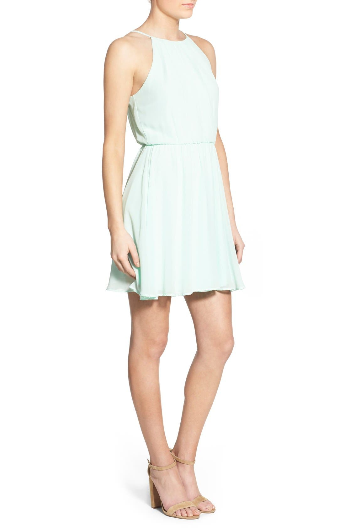 ,                             Blouson Chiffon Skater Dress,                             Alternate thumbnail 149, color,                             436
