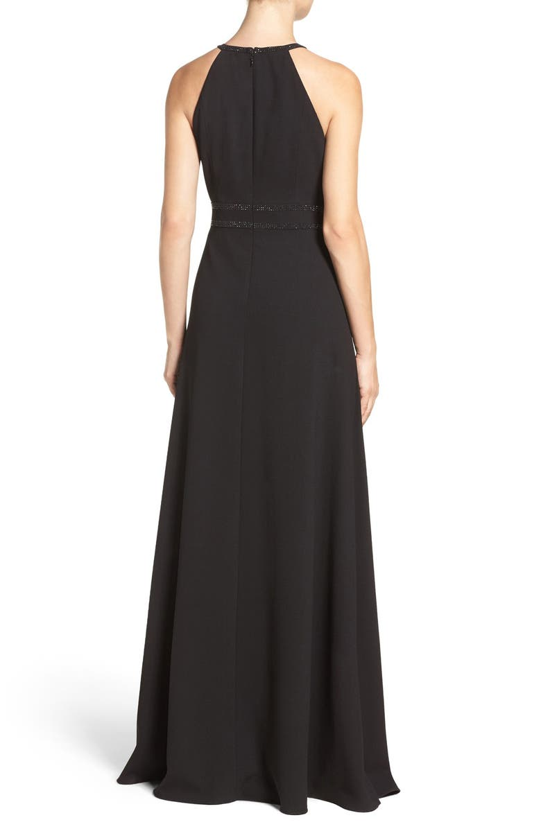 AIDAN BY AIDAN MATTOX Embellished Crepe Gown, Main, color, 002