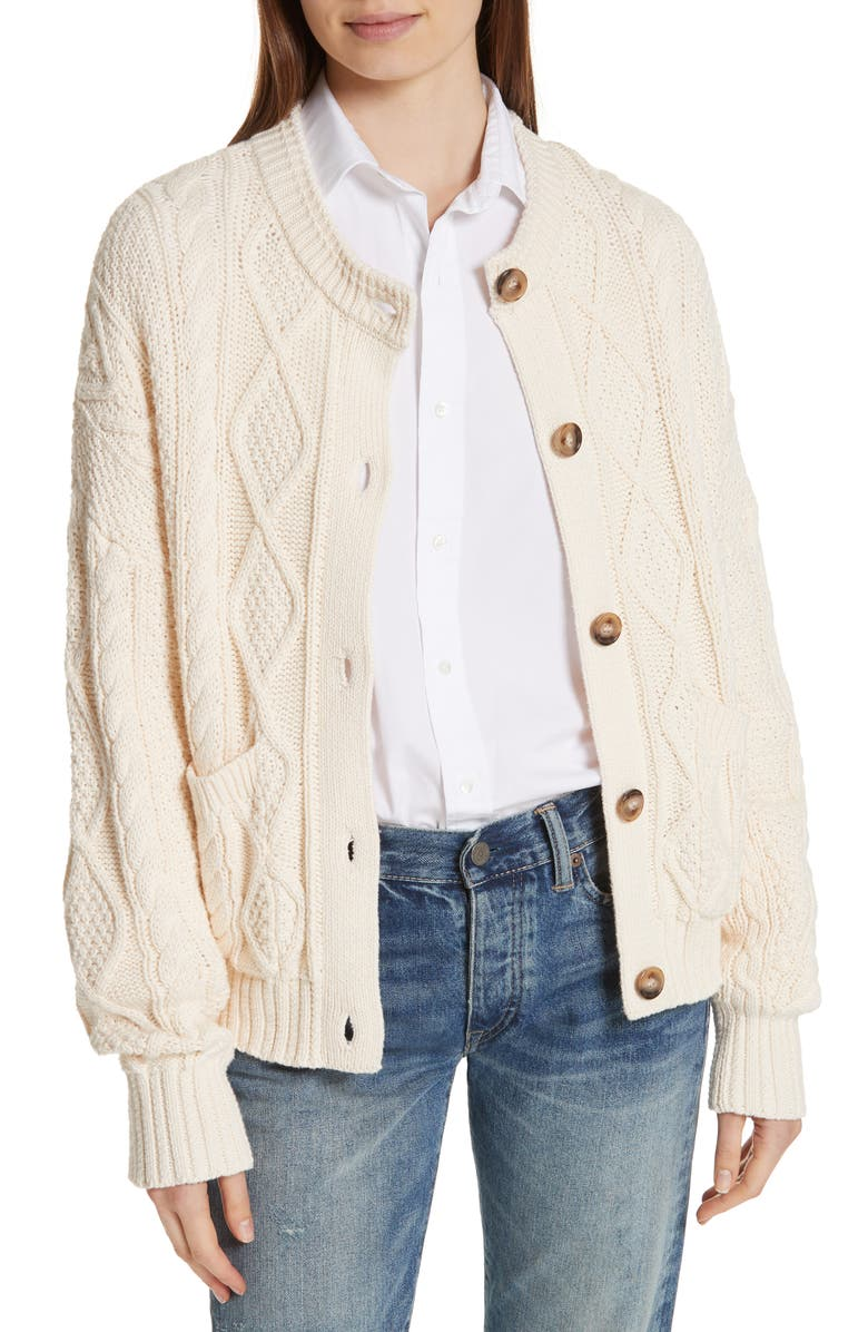 Polo Ralph Lauren Boxy Cable Cardigan | Nordstrom