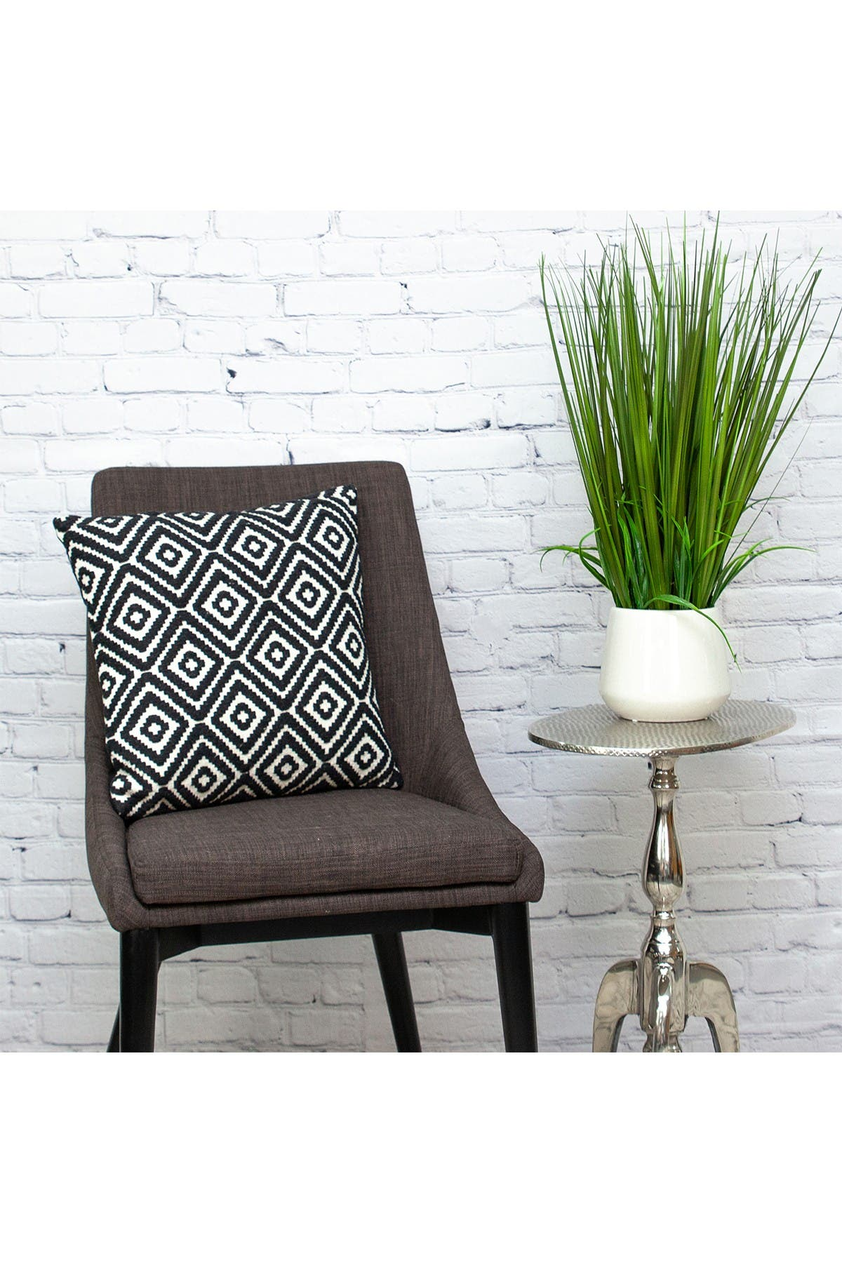 Image of Parkland Collection Kimia Transitional Black Throw Pillow