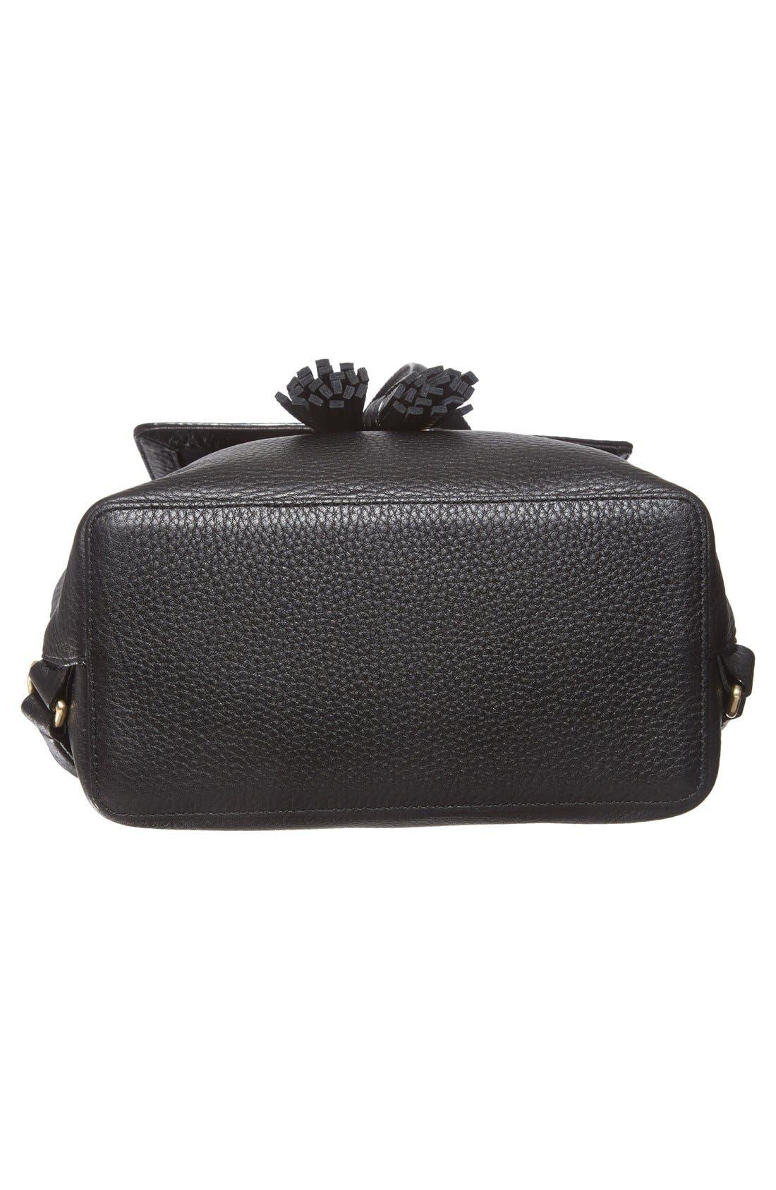 ,                             'james street - teba' leather backpack,                             Alternate thumbnail 4, color,                             001