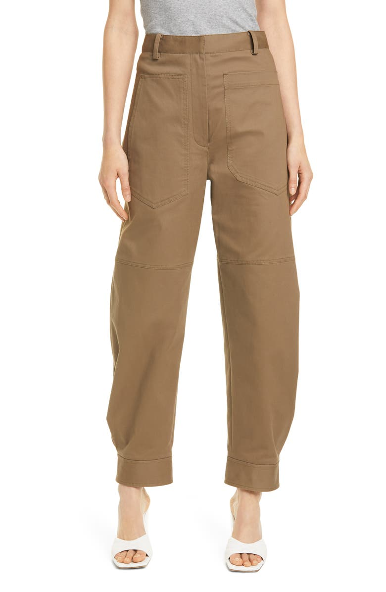 TIBI Myriam Sculpted Stretch Twill Pants, Main, color, 200