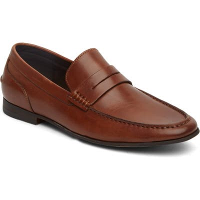 Kenneth Cole Reaction Crespo Penny Loafer, Brown