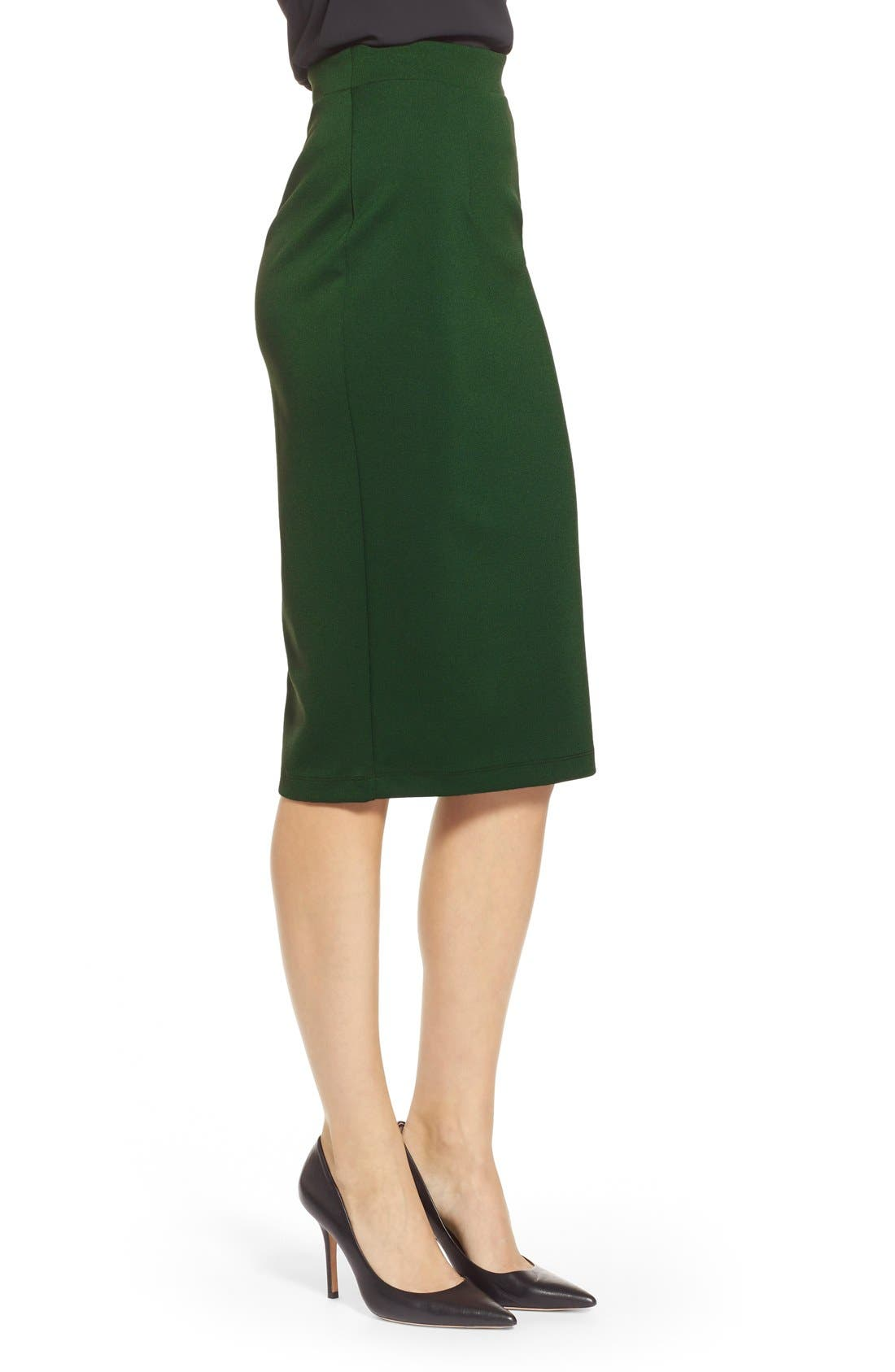 ,                             Zip Back Knit Pencil Skirt,                             Alternate thumbnail 8, color,                             301