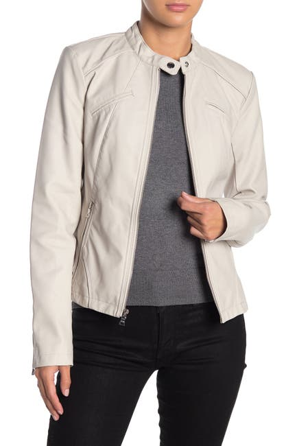 Image of GUESS Faux Leather Moto Jacket