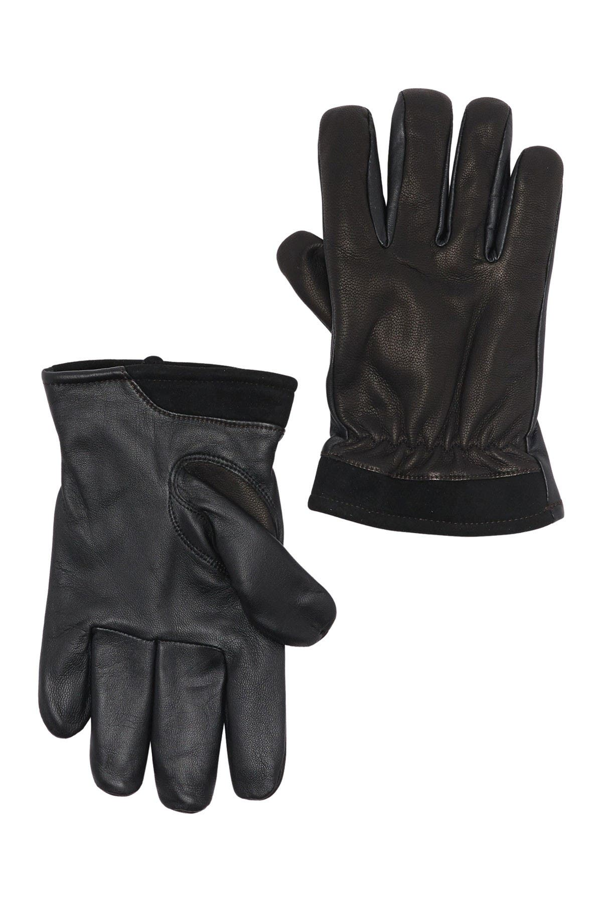 Image of UGG Captain Pieced Leather Gloves