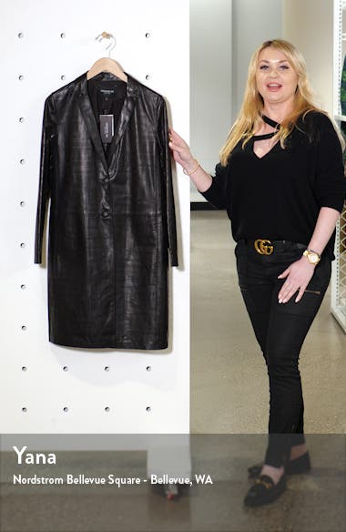 Jobelle Laser Cut Lambskin Leather Trench Coat, sales video thumbnail