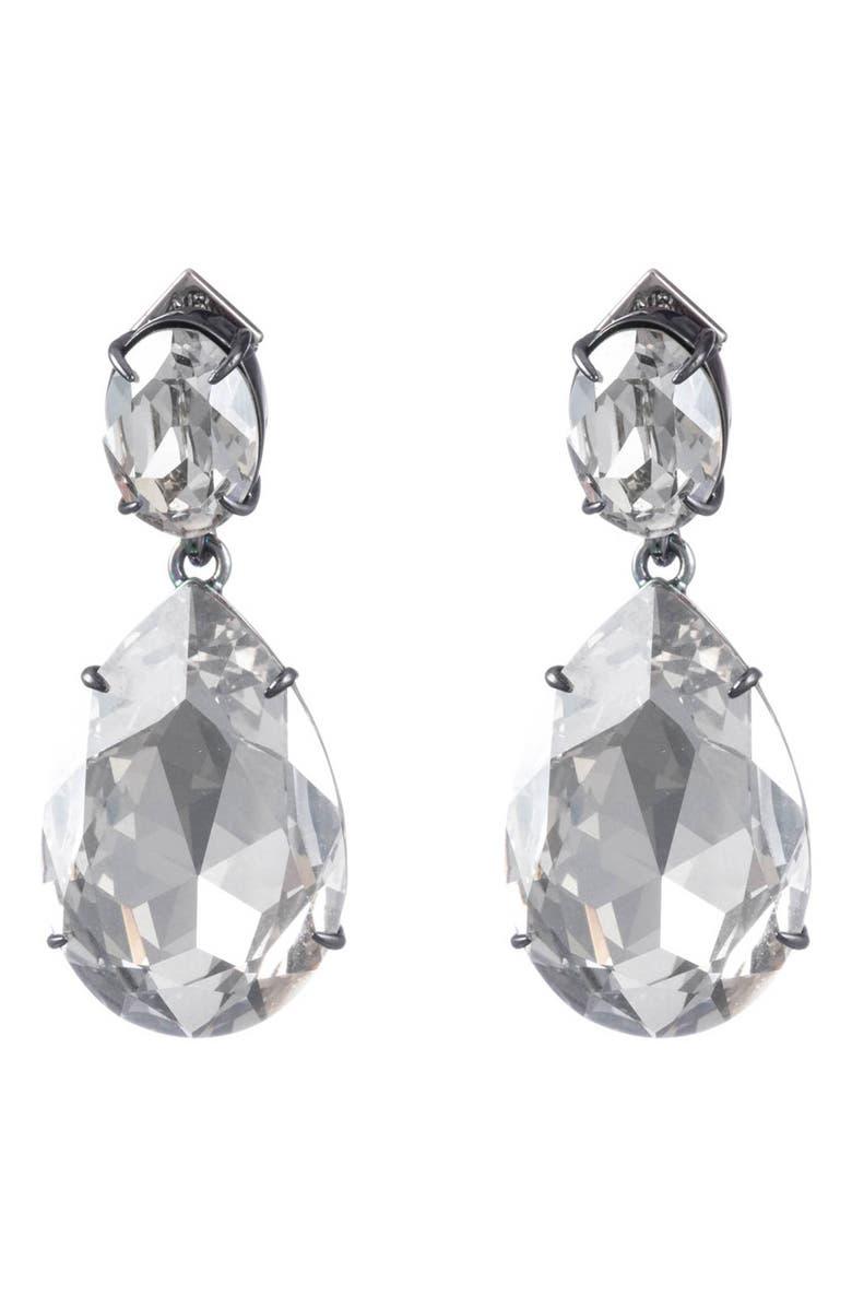 Oversized Crystal Teardrop Earrings by Alexis Bittar