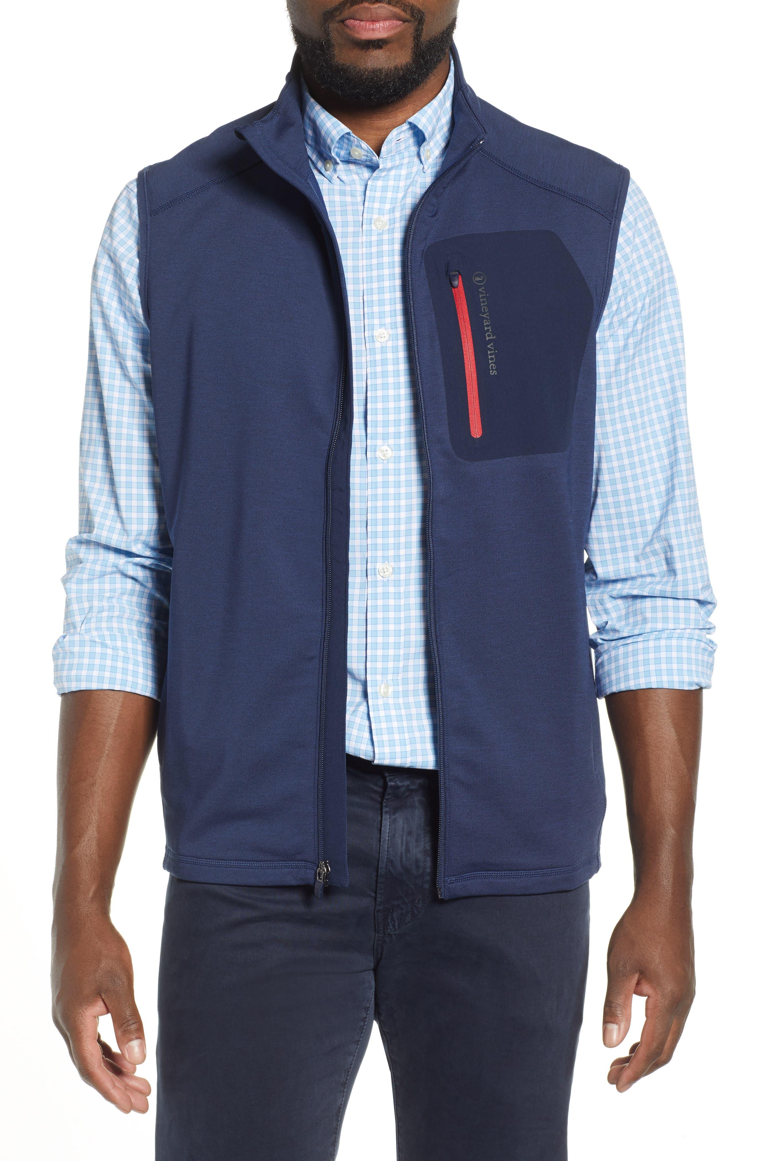 Vineyard Vines Walker Zip Vest, Blue