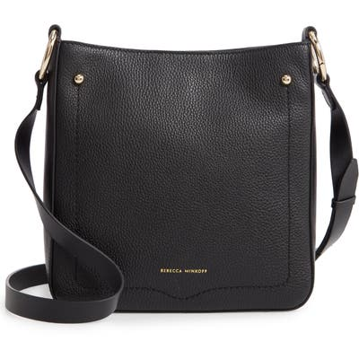 Rebecca Minkoff Jody Pebbled Leather Feed Bag - Black