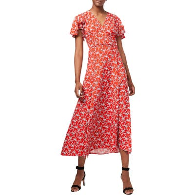 French Connection Cerisier Midi Dress, Red