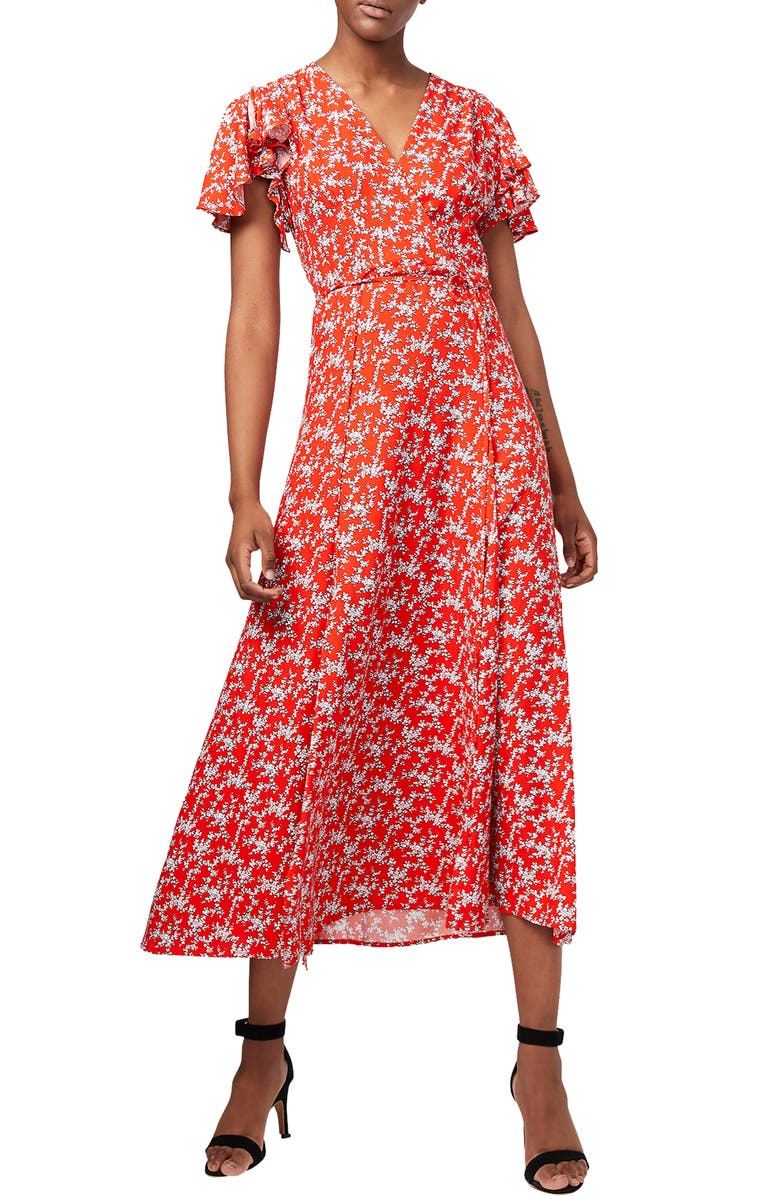 FRENCH CONNECTION Cerisier Midi Dress, Main, color, 622